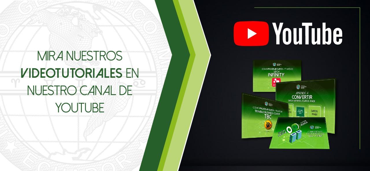 Videos Tutoriales en nuestra plataforma YouTube