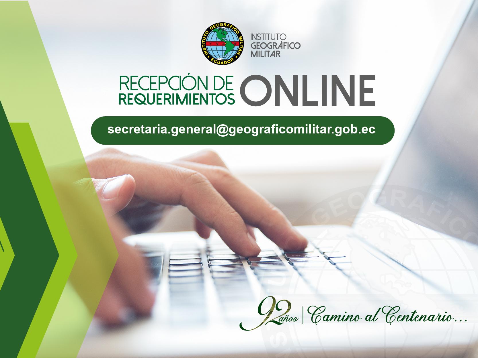 Recepción de documentos ON LINE
