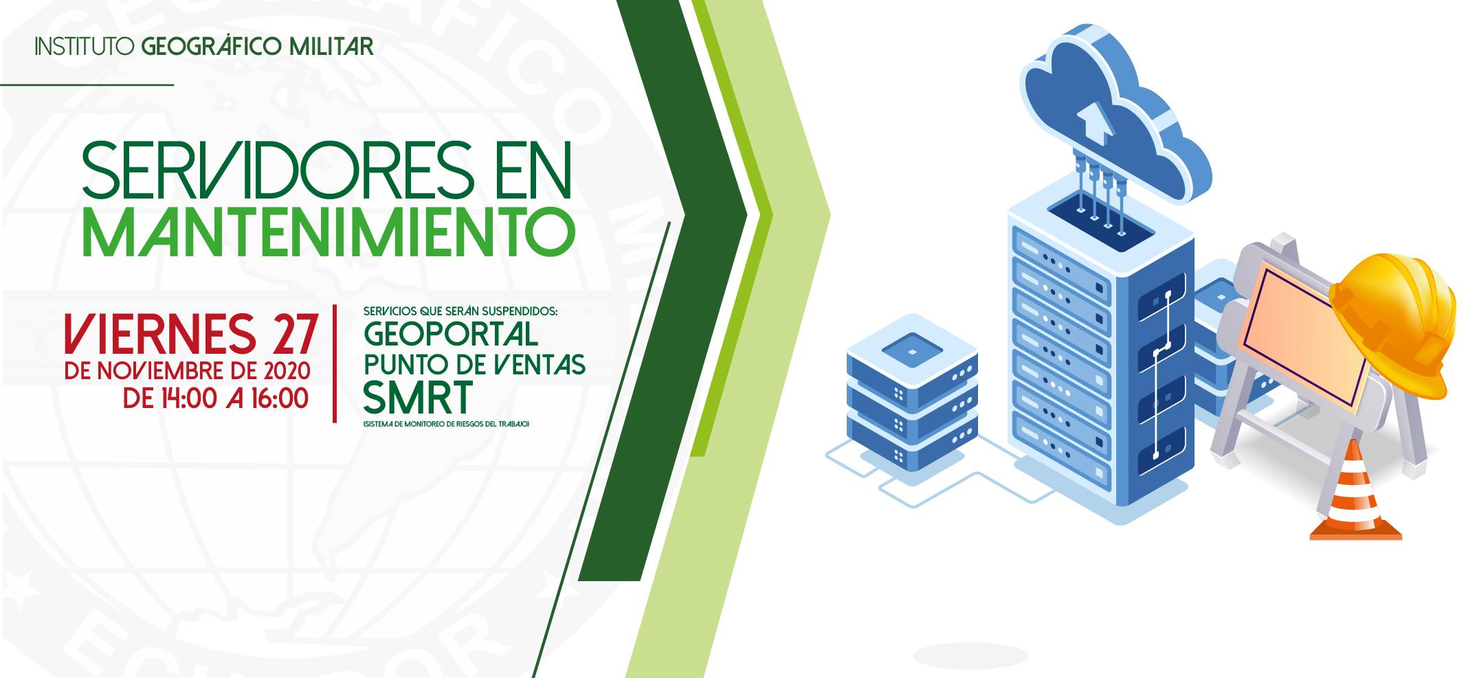 Por motivos de mantenimiento servicios suspendidos - 27/11/2020 de 14:00 a 16:00