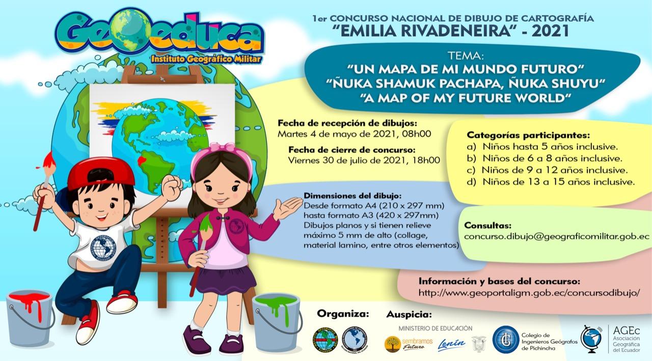 """Primer Concurso Nacional de dibujo cartográfico """"Emilia Rivadeneira"""""""