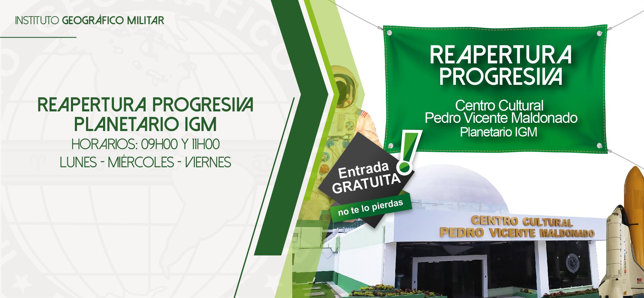 """Reapertura progresiva Centro Cultural """"Pedro Vicente Maldonado"""" – Planetario"""
